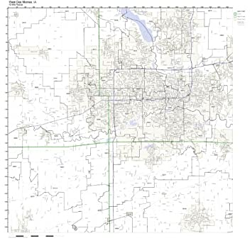 Amazon Com West Des Moines Ia Zip Code Map Not Laminated Home