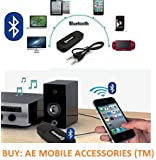 AE (TM) Bluetooth Stereo Adapter Audio Receiver 3.5Mm Music Wireless Hifi Dongle Transmitter Usb Mp3 Speaker Car - BLACK