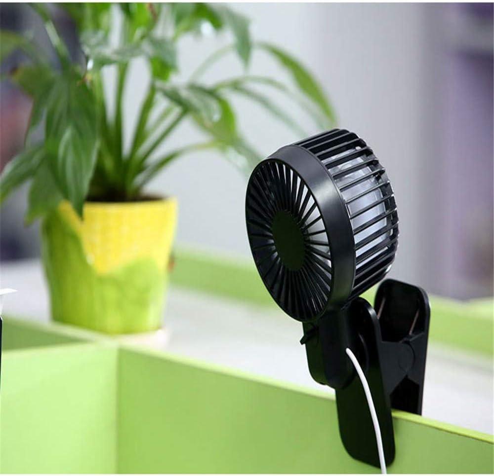 ZQ Desktop Mini Fan,Portable Baby Carriage Clip Fan Silent Student Dormitory USB Double Leaf Small Fan,B