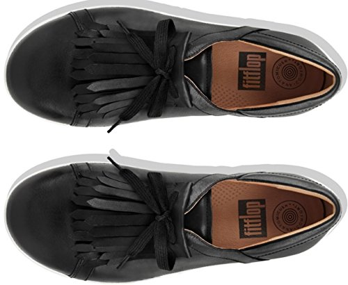 F II Black Sneakers Sporty FitFlop Up Lace Fringe Leather aqpE4d