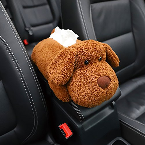 (blue--net Cute Plush Animals Napkin Tissue Box Case Holder Paper Holder Napkin Box Car Center Consoles Cushion Pillow Pad Car Armrest Center Consoles Cushion for Car Armrest Headrest Multifunction)
