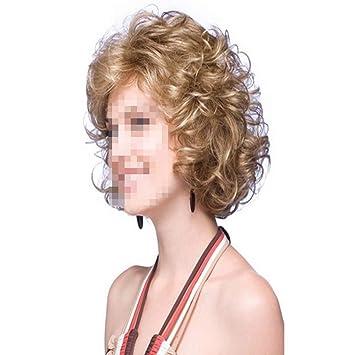 Wig Halloween Perucke Weiss Flauschige Kleine Lockige Haare Frisur