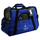 Felji Pet Carrier Cat Dog Airline Approved Fleece Bag Medium Blue 17 x 8 x 11 inches