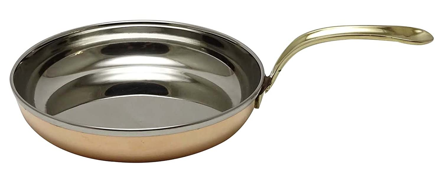 Copper New Small Tadka Pan Indian Cookware Utensil Kitchenware Spice Heating ibaexports