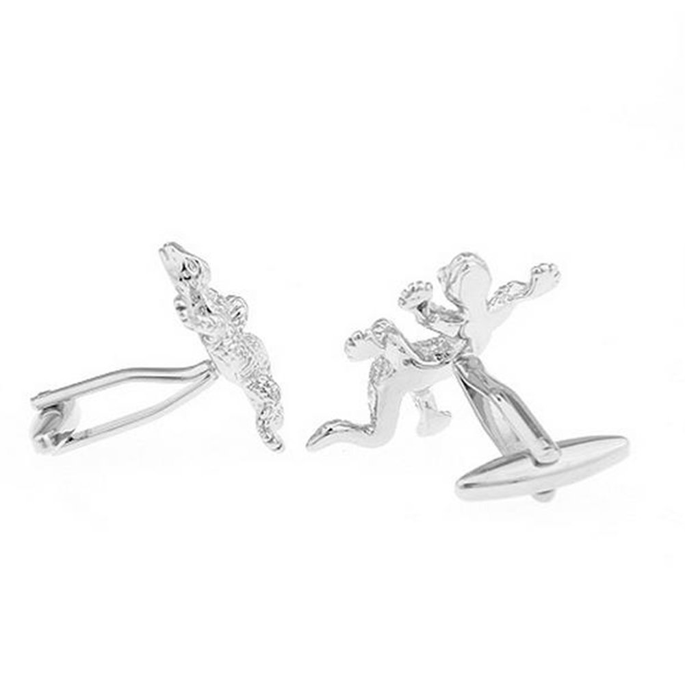 Hosaire Men's Cufflinks Gecko Cuff Link Delicate Cuff-link for Wedding Party Golden by Hosaire (Image #3)