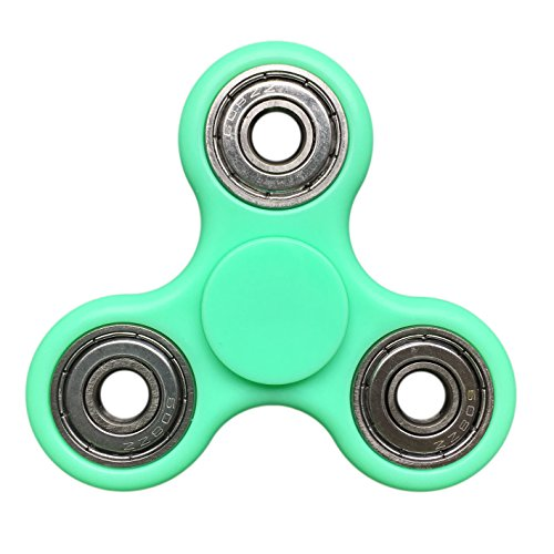 Price comparison product image Findbest Fingertip Gyroscope Tri-Spinner Fidget Toy EDC Focus Toy, Ultra Durable High Speed Exquisite Hand Spinner for ADD, ADHD Anxiety Autism Boredom Stress Focus Children and Adults (green)