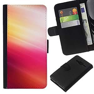 YiPhone /// Tirón de la caja Cartera de cuero con ranuras para tarjetas - Pink Tones - Samsung Galaxy Core Prime