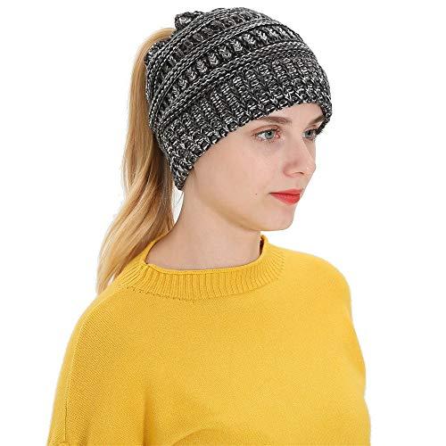 CUCUHAM Women Men Autumn Winter Beanie Hat Knitting Wool Warm Hats Earmuffs Hat