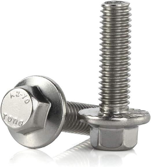 25 M 6-1.0 x 10mm Serrated Hex Flange Bolts Clipsandfasteners Inc Class 10.9 Zinc
