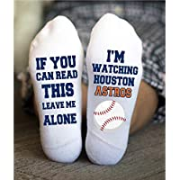 Houston Astros Socks Funny Birthday Gift Baseball Team Game