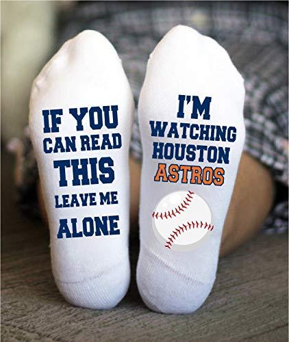 - Houston Astros Socks Funny Birthday Gift Baseball Team Game