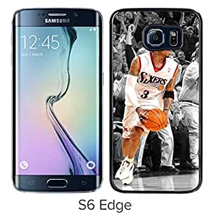 Handmade Allen Iverson Black Samsung Galaxy S6 Edge Screen Cellphone Case Unique and Fashion Style