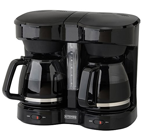 Kitchen Selectives CM-302BL Drip Coffee Maker, 12-Cup, Black