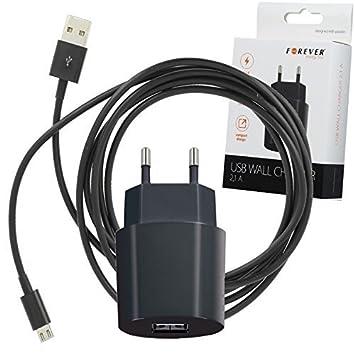 USB Cargador de Sector 2 A + Cable de 2 Metros para Alcatel ...