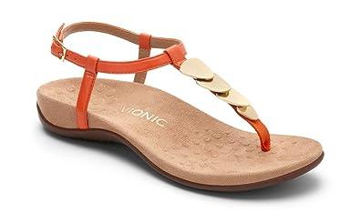 Vionic Damens's Rest Miami Toe Sandale Post Sandale Toe Orange 8W ... 9fc64c