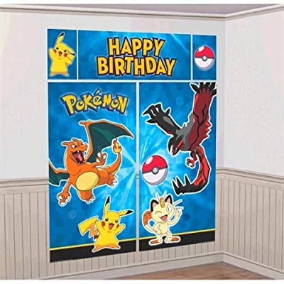 5 Count Pokemon Scene Setters Decorating Kit, Blue: Kitchen & Dining