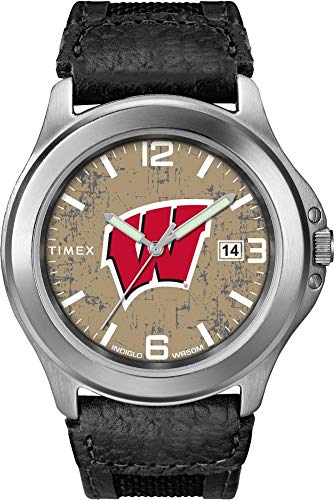 - Timex Men's University of Wisconsin Badgers Watch Old School Vintage Watch