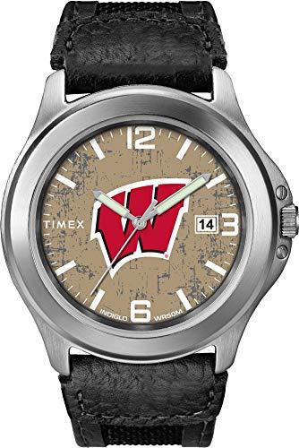 Timex Men's University of Wisconsin Badgers Watch Old School Vintage Watch (Team Wisconsin Watch Badgers)
