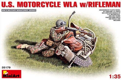"""MINIART Echelle 1: 35cm moto US WLA avec carabinier """"Construction Kit (Multicolore)"""
