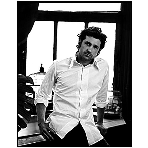 Patrick Dempsey 8 X 10 Photo Black & White Pic White Button Down Shirt Tousled Hair Hand on Hip kn