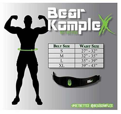 Bear KompleX 4'' Straight Weightlifting Belt for Powerlifting, Squats, Weight Training and More. Low Profile with Super Firm Back for Maximum Stability & Exceptional Comfort. Straight Black XL by Bear KompleX (Image #2)