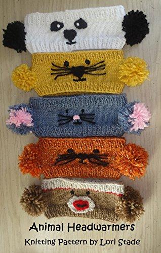 Pom-pom Animal Headwarmers Knitting Pattern