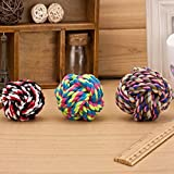 1pc Pets Rope Ball Toys Bite Ball Colorful Squeak