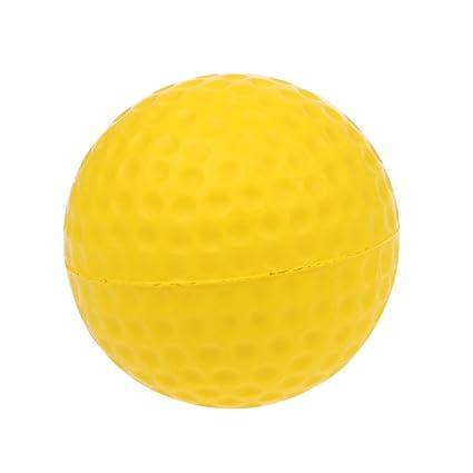 Huiouer pelota de golf de espuma amarilla, pelota de entrenamiento ...