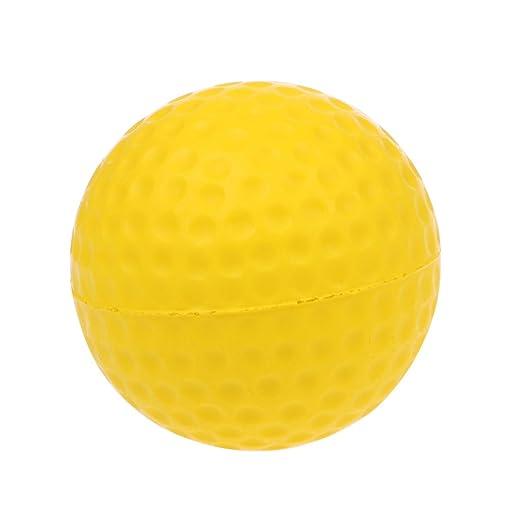 Xiuinserty pelota de golf de espuma amarilla, pelota de golf de ...
