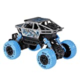 US1984 1:36 4WD Rally Cars Crawler Off Road Race Monster Truck, Metal Car, Big Rubber Tires, Metal Suspension (Blue)