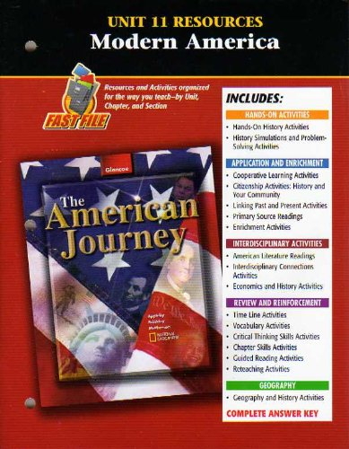 The American Journey Unit 11 Resources Modern America 9780078655487 Slugbooks