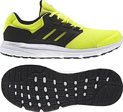 adidas Galaxy 4, Zapatillas de Running para Hombre Amarillo (Solar Yellow/core Black/core Black)