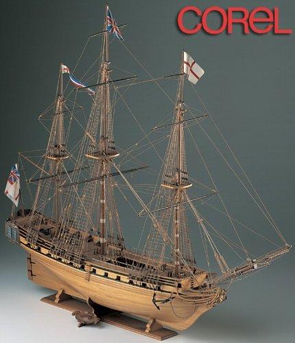 Wooden model sailing ship Corel SM11 HMS Unicorn