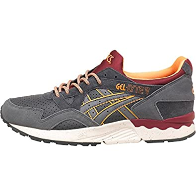 88161de37008 Mens Asics Tiger Gel Lyte V Premium Outdoor Trainers Dark Grey Grey Guys  Gents  Amazon.co.uk  Shoes   Bags