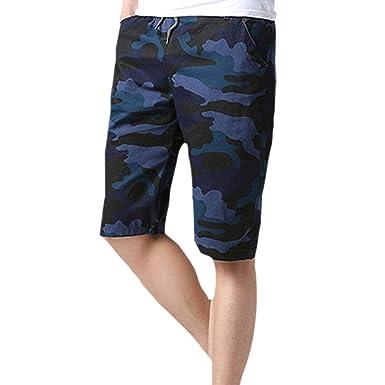 Slim Fit Camo Jogg Hombre Pantalones Shorts Cortos Bermudas para ...