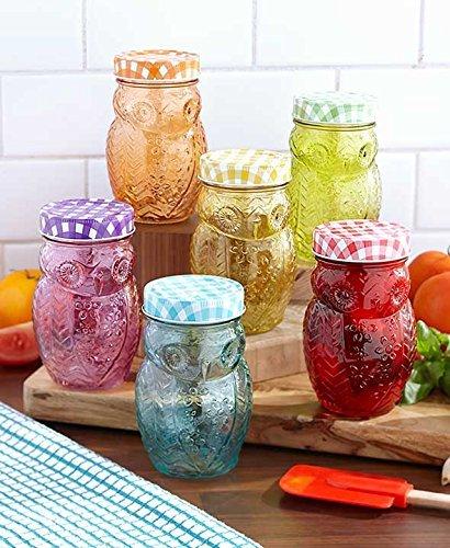 Jars Colored (12-Pc. Owl Storage Jar Set)