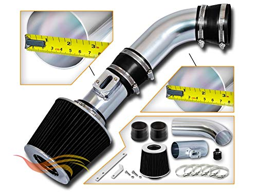 RSG Racing Short Ram Air Intake Kit BLACK Compatible For 07-12 GMC Canyon & Chevy Colorado 2.9 3.7 ONLY / 07-09 Hummer H3 & 09 Hummer H3T 3.7 ONLY ()