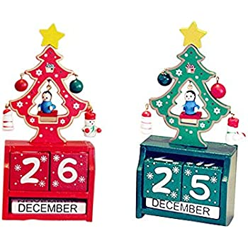 rustic christmas countdown decoration 2 pack creative wooden christmas countdown calendar tree of