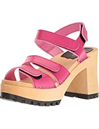 swedish hasbeens Women's Velcra Heeled Sandal
