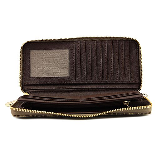 MICHAEL Michael Kors Jet Set Travel Continental Wallet (Beige/Ebony/Mocha) by MICHAEL Michael Kors (Image #2)
