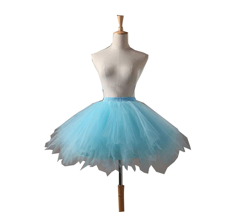 WHZZ Women's Short Puffy Petticoat Underskirt Crinoline WHZZ345-black