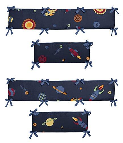 Sweet Jojo Designs Space Galaxy Collection Crib Bumper