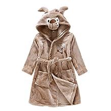 APXPF Kids Little Boys Girls Hooded Pajamas Cartoon Animal Bath Robes