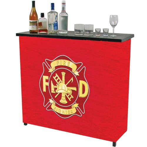 Fire Fighter Two Shelf Portable Bar with Case by Trademark Gameroom