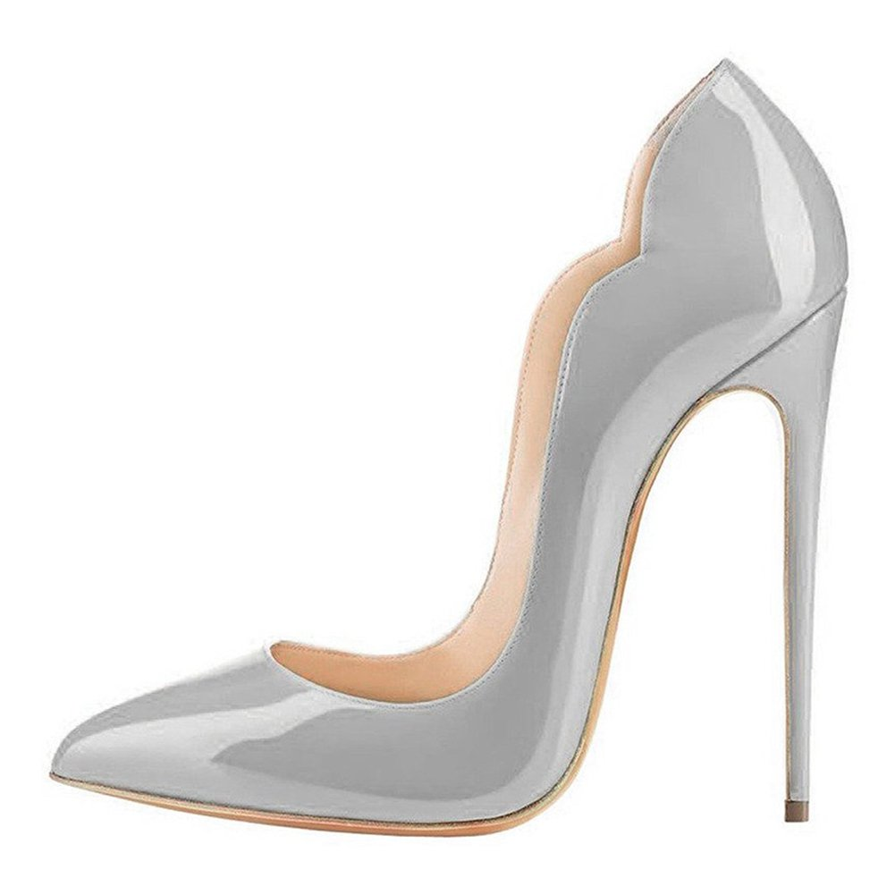 EKS - Zapatos de Tacón Mujer 39 EU gris