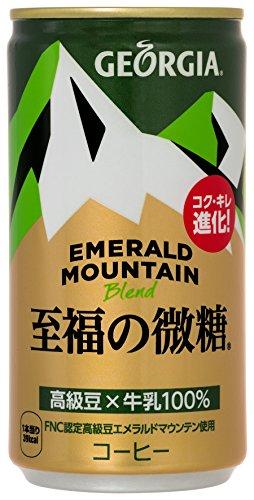 코카콜라 조지아 에메랄드 마운틴 블렌드 행복한 미당 185g 캔 × 30 개