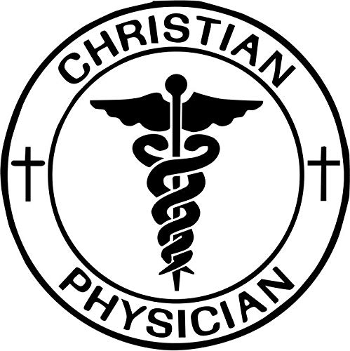 BEARGRAPHIX Christian Physician Decal Sticker Car Motorcycle Truck Bumper Window Laptop Wall Décor Size- 6 Inch Tall Gloss White Color (Best Laptop For Physicians)