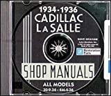 1934 1935 1940 CADILLAC & LaSALLE FACTORY REPAIR SHOP & SERVICE MANUALCD INCLUDES Cadillac and La Salle models with V8, V12, and V16 engines. 34 35 36