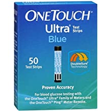 Onetouch Ultra Test Strips, Blue 50 Each by Onetouch (Pack of 2)