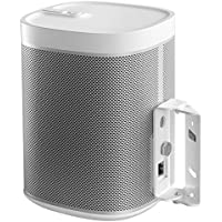 Cavus Surround Sound Tilt and Swivel Wall Mount - Wall bracket for Sonos Play1 - White - SN1TW-2